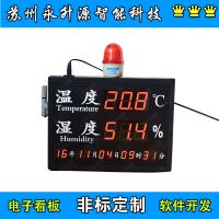 苏州永升源厂家新款红色标准时钟公检法高清温湿度显示屏审讯室万年历报警电子看板