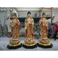 昇顺工艺塑造树脂各种天神西方三圣玻璃钢佛像