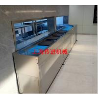 南京大型餐厅餐盘输送机,自动收餐盘传送带