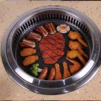 韩式烧烤炉_韩泰厨具_韩式烧烤炉麦饭石烤肉炉