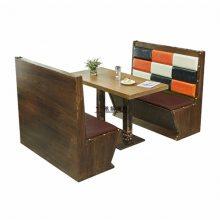 肇庆板式卡座沙发订做,现代风格餐厅卡座桌子组合