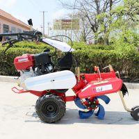 丘陵坡地微型耕地机 手扶自走式大葱培土机 启航柴油多功能开沟机哪里有卖