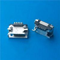 垫高MICRO B型母座5P 加高0.9 DIP+SMT 两脚插板直边
