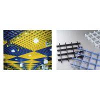 优质铝格栅厂家 专业供应三角形铝格栅 凹槽铝格栅