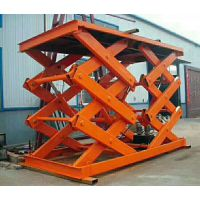 厂家生产固定剪叉式升降机地下室货运升降平台小型电动液压货梯上料机