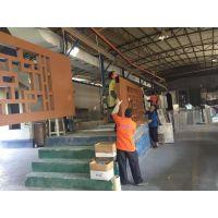 专业生产木纹铝合金窗花厂家