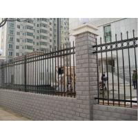蓝白围墙护栏@蓝白锌钢围墙栅栏@锌钢护栏网厂家