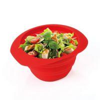 6寸折叠碗 食品级硅胶碗 糖果色时尚碗 易清洗 耐摔