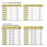 供应 台湾丸荣ACROW 夹头柄 钻头套筒TC-01