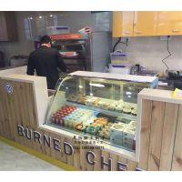 85°蛋糕店加盟 徽点新款矮弧形后开门慕斯西点冷藏柜 饮品店咖啡馆制冷设备