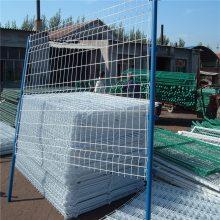 仓库防护网厂家 建筑铁丝网价格 桃型柱护栏网