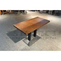 复古咖啡厅桌椅组合甜品奶茶店桌椅美式主题西餐厅餐椅铁艺叉背椅