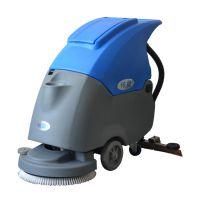 工厂车间环氧地面清洗污渍手推式洗地机,依晨充电式洗地机YZ-50