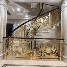 好看的铝雕花工艺楼梯护栏厂家 铜艺铝艺楼梯栏杆类型