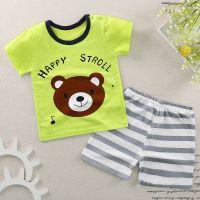儿童夏季套装新款纯棉婴儿短袖短裤套装时尚男女童婴儿纯棉童套装