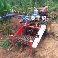 拖拉机带土豆收货机 收货快破损率低 土豆收获机