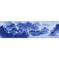 青花瓷外墙陶瓷画 装饰陶瓷壁画定制