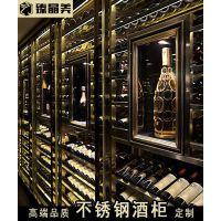 阳江恒温不锈钢酒柜,高端大气红酒酒柜