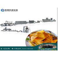 玉米锅巴机器玉米三角片生产线 多力多滋玉米片设备 薄片尖角脆机械 香脆薄片美腾机械制造