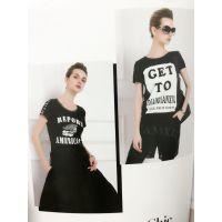 夏装低价女装批发多种款式折扣女装加盟欧美品牌尾货库存批发