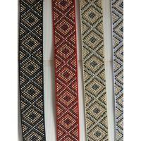 烫钻织带,松紧带,PP织带,烫银提花带。