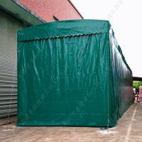 昆山市密封活动伸缩雨棚定做_大型电动推拉帐篷 布厂家