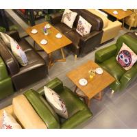 倍斯特美式乡村实木沙发主题西餐厅咖啡厅休闲奶茶店厂家定制