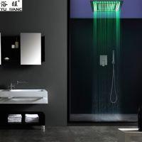 浴旺天雨豪华外贸酒店别墅方形入墙暗装温控天雨LED情调淋浴