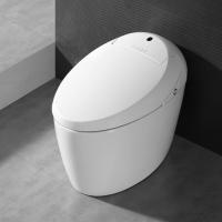 白色陶瓷全自动虹吸智能马桶一体式安全智能马桶
