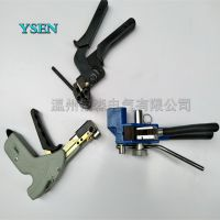 不锈钢扎带工具厂家直销 YS-LQA齿轮式金属扎带钳 电杆捆绑带收紧机特价
