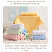 迎春雨厂家直销 竹纤维毛巾 婴儿童毛巾美容洗脸面巾 100%抗菌