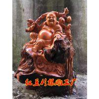红豆杉根雕 乌木观音人物山水花鸟客厅木雕 大型红豆杉弥勒佛根雕厂家