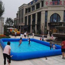 充气水池搭配心悦游乐儿童手摇船夏季广场游乐项目火爆热销