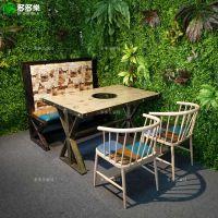 工业风音乐火锅餐厅桌椅 复古火锅店家具餐桌餐椅定做批发