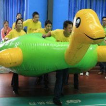 河南充气龟兔赛跑趣味游戏规则 户外拓展训练比赛道具