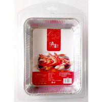 供应广西南宁一次性烧烤用品铝箔方形盘广西超市供应商