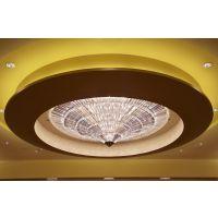 润林泉承接酒店工程现代大型水晶LED灯