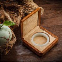 定做手镯盒非洲花梨纯实木质高档手镯盒包装盒绒布 玉器翡翠佛珠收纳盒