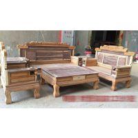 中山红木家具特价出售光身红木财源滚滚兰亭序123沙发组合(6件套)云鑫臻品