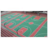 广西柳州学校塑胶篮球场地坪施工 绿色环保水性硅PU材料 康奇体育