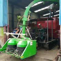 厂家直销履带式皇竹草收割机 秸秆粉碎打捆包膜青贮机 铡草机