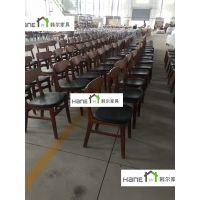 上海SHANGHAI面馆实木桌椅 餐厅桌子椅子订做厂家 韩尔复古定制品牌
