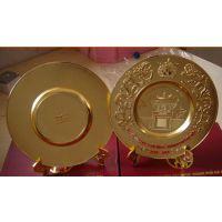 呼和浩特金属纪念盘设计制作高档铜盘,锡盘订做厂家