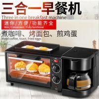 厂家直销OEM三合一早餐机 家用多功能迷你小烤箱