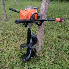 汽油二冲程挖坑机 大棚立柱果树施肥钻坑打眼机 大功率打窝机 速度快效率高