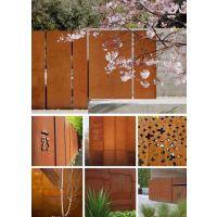 耐候板激光切割 耐候钢板镂空 耐候板上锈 景观耐候板工程