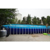钢架结构室外泳池 郑州支架泳池乐园 场外游艺支架泳池设备什么报价