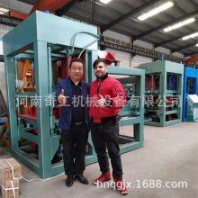 国产PLC变频免烧砖机奇工10-15砖机出口100国家海绵透水砖机