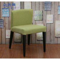 北欧餐椅现代简约日式风格布艺靠背椅子咖啡厅休闲桌椅