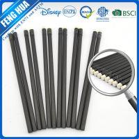 kjin7寸不削尖黑木铅笔 黑木铅笔配黑色铝圈带白色皮头 环保安全铅笔
